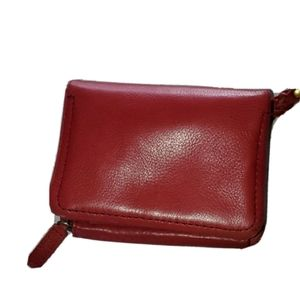 Fossil | Red Genuine Leather Mini Wallet